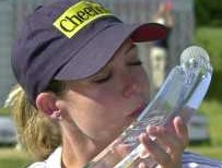 Cristie Kerr kisses the trophy